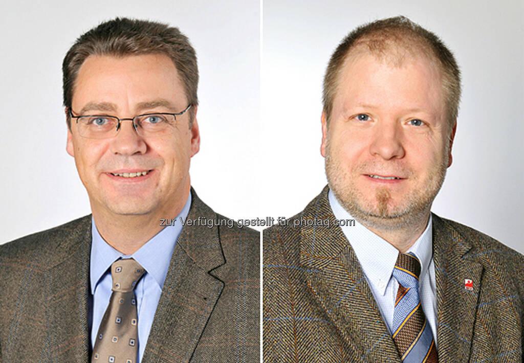 Thomas de Win und Oliver Zühlke: Bayer: Thomas de Win tritt aus gesundheitlichen Gründen zurück / Oliver Zühlke als neuer Gesamtbetriebsratsvorsitzender gewählt, © Aussender (03.02.2015)