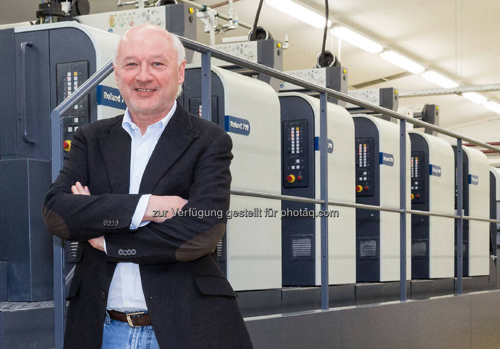 """Gerhard Aichhorn, Eigentümer und Geschäftsführer von Samson Druck: """"Wir wollen unseren hohen Qualitätsstandard durch die Investition in neue Technologien weiter ausbauen."""", © Aussender (04.02.2015)"""