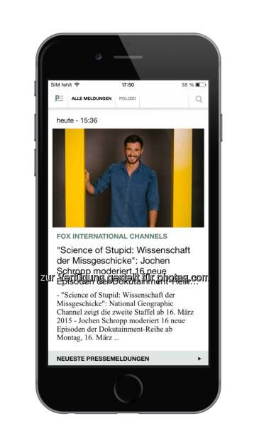news aktuell GmbH: Presseportal App jetzt im neuen Design erhältlich - schon fast eine halbe Million Downloads (04.02.2015)