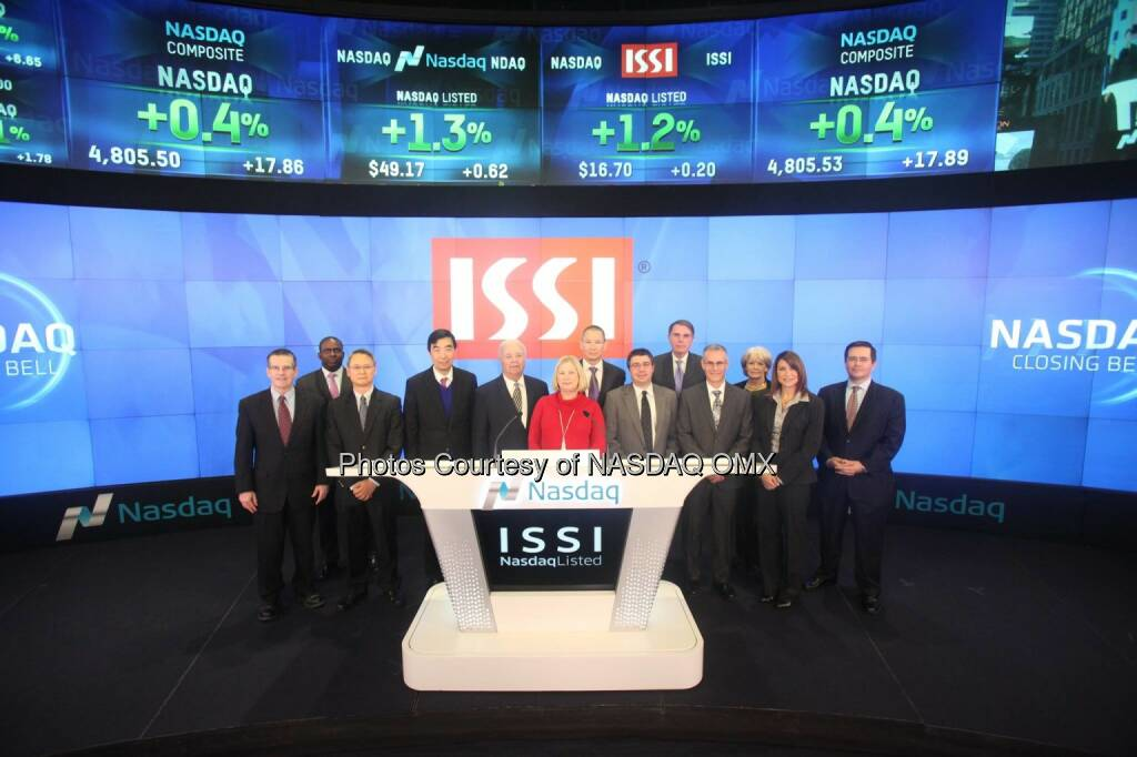 Integrated Silicon Solution, Inc. $ISSI rings the Nasdaq Closing Bell!  Source: http://facebook.com/NASDAQ (12.02.2015)