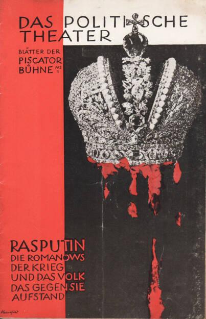 Blätter der Piscatorbühne - Das politische Theater - Rasputin, die Romanows..., Bepa-Verlag 1927, Cover -  http://josefchladek.com/book/blatter_der_piscatorbuhne_-_das_politische_theater_-_rasputin_die_romanows_der_krieg_und_das_volk_das_gegen_sie_aufstand_november_1927, © (c) josefchladek.com (14.02.2015)