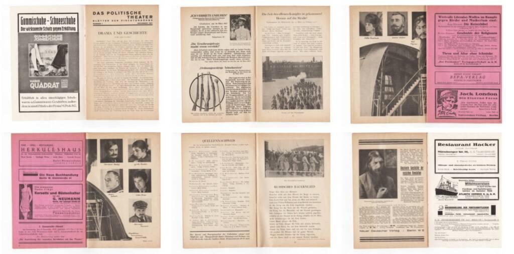 Blätter der Piscatorbühne - Das politische Theater - Rasputin, die Romanows..., Bepa-Verlag 1927, Beispielseiten, sample spreads -  http://josefchladek.com/book/blatter_der_piscatorbuhne_-_das_politische_theater_-_rasputin_die_romanows_der_krieg_und_das_volk_das_gegen_sie_aufstand_november_1927, © (c) josefchladek.com (14.02.2015)