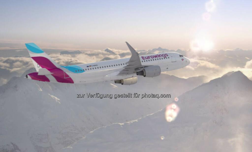 Wien wird erste Basis für die neue Eurowings außerhalb Deutschlands - Stationierung von zunächst zwei Airbus A320 ab Herbst 2015 – bereedert von Austrian Personal, © Aussendung (18.02.2015)