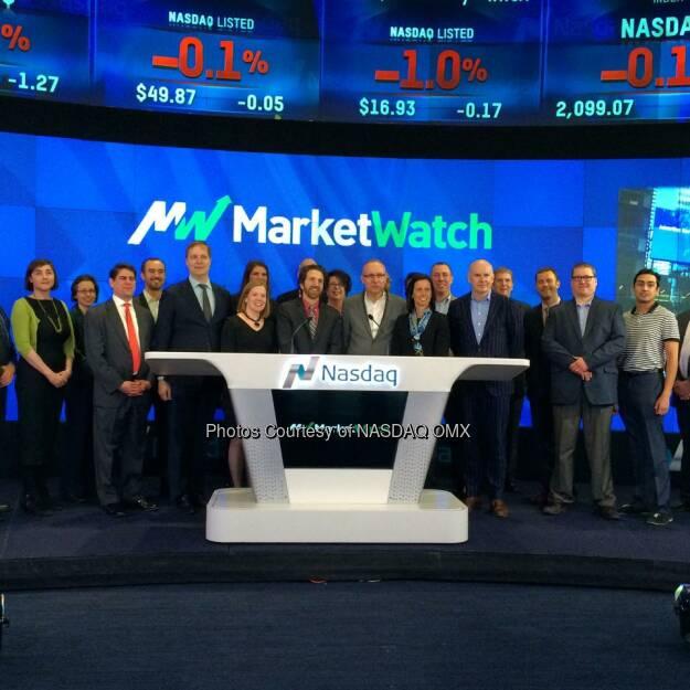 MarketWatch rang the Nasdaq Closing Bell! $NWSA  Source: http://facebook.com/NASDAQ (19.02.2015)