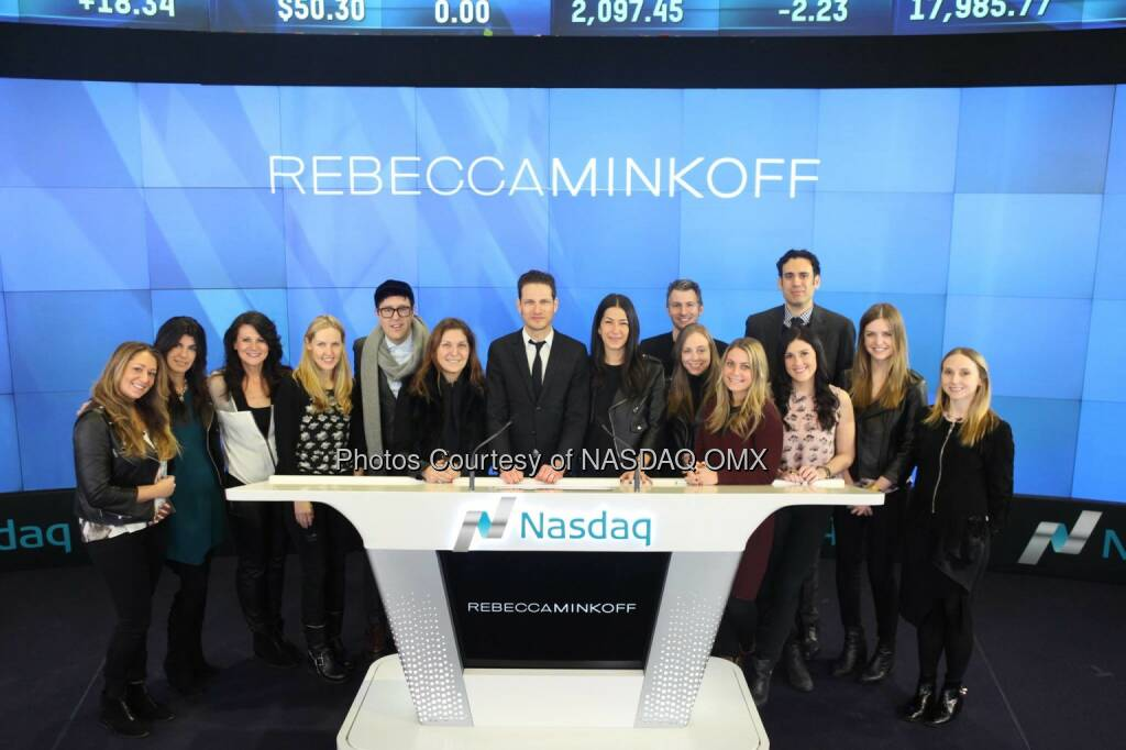 .@rebeccaminkoff rings the @Nasdaq #OpeningBell! #NYFW #Fashion #entrepreneur @UriMinkoff  Source: http://facebook.com/NASDAQ (20.02.2015)