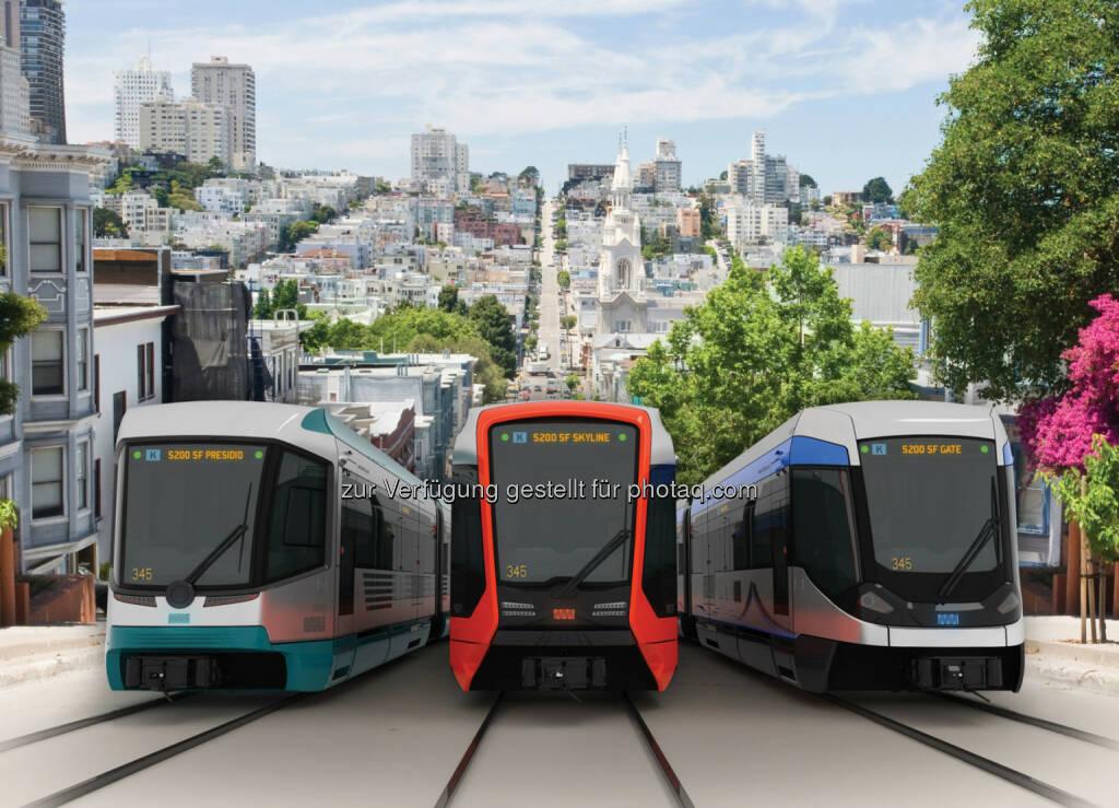 Die Verkehrsbehörde von San Francisco hat Siemens mit der Lieferung von 175 Stadtbahnwagen im Wert von 648 Millionen USD beauftragt. Einschließlich der Option über weitere 85 Wagen ist dies einer der größten Aufträge für Nahverkehrsfahrzeuge, der in den USA jemals vergeben wurde. , © Aussendung (20.02.2015)