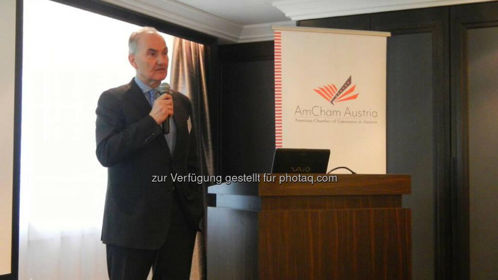 Johann Marihart (Agrana) beim AmCham Talk., © Aussender (21.02.2015)