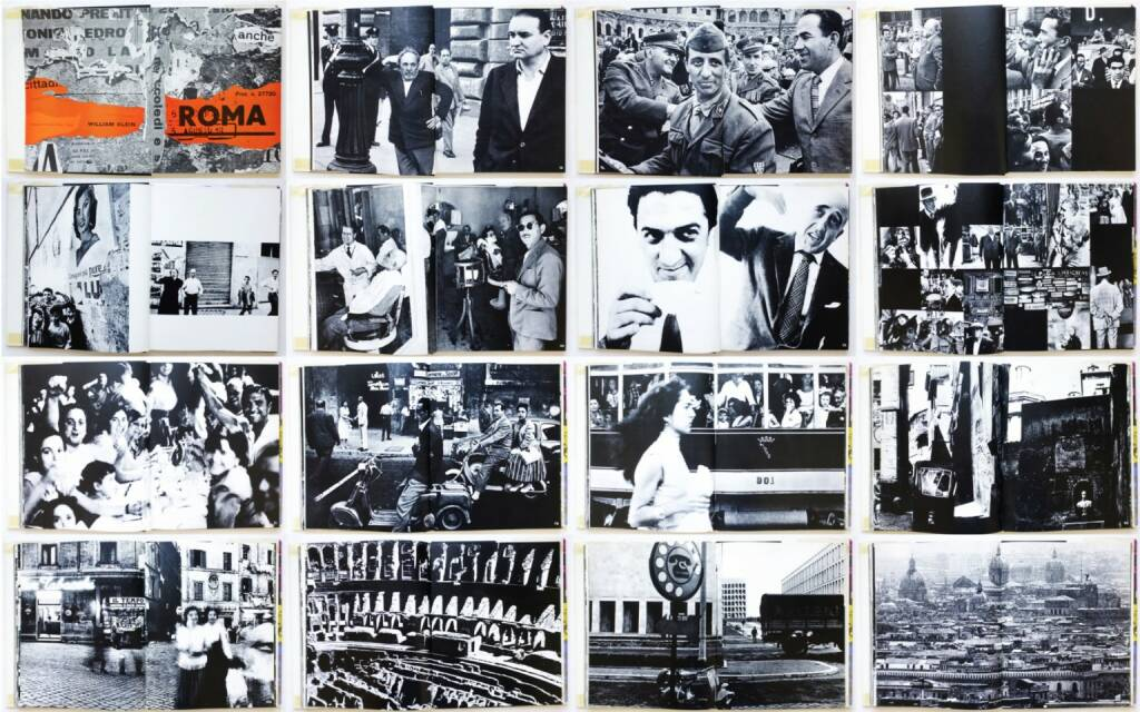 William Klein - Rome, Giangiacomo Feltrinelli Editore 1959, Beispielseiten, sample spreads - http://josefchladek.com/book/william_klein_-_rome, © (c) josefchladek.com (21.02.2015)