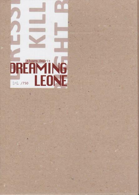 Alvaro Deprit - Dreaming Leone, Self published 2014, Cover - http://josefchladek.com/book/alvaro_deprit_-_dreaming_leone, © (c) josefchladek.com (23.02.2015)