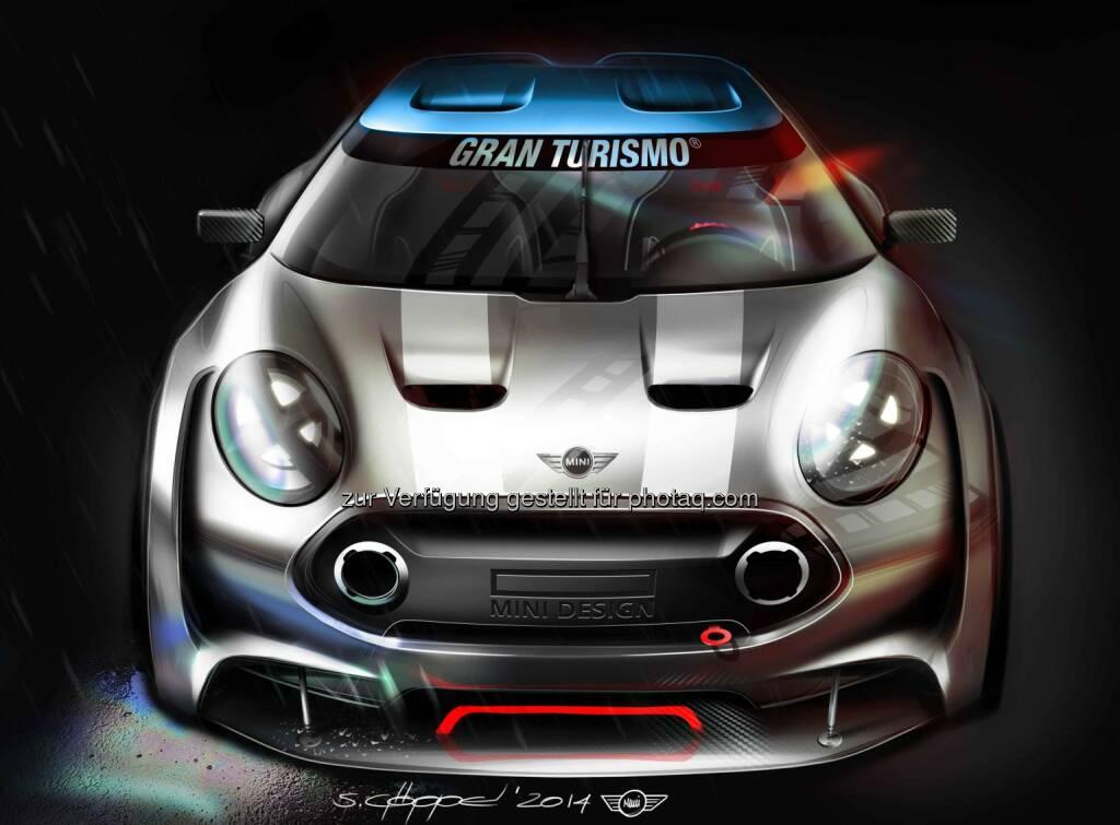 Mini Goes Gran Turismo® 6. Gamer können ab März den virtuellen MINI Clubman Vision Gran Turismo fahren., © Aussender (24.02.2015)