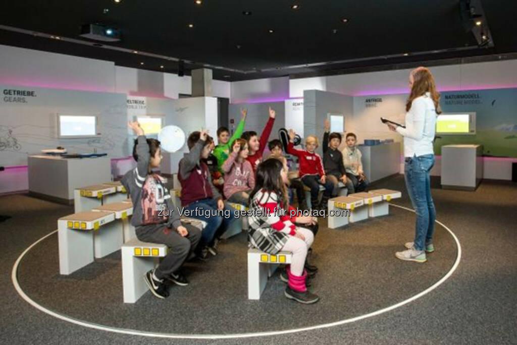 BWM Junior Campus 2.0: Ab sofort können 7- bis 13-Jährige im sogenannten Campus Labor an zehn neuen interaktiven Exponaten die Welt der Mobilität, Nachhaltigkeit und Globalität entdecken., © Aussendung (26.02.2015)