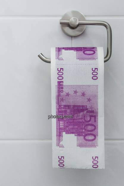 Gesucht: Eine Bildunterschrift möglich zu dieser 500-Euro-Klapierrolle ... (16.02.2013)