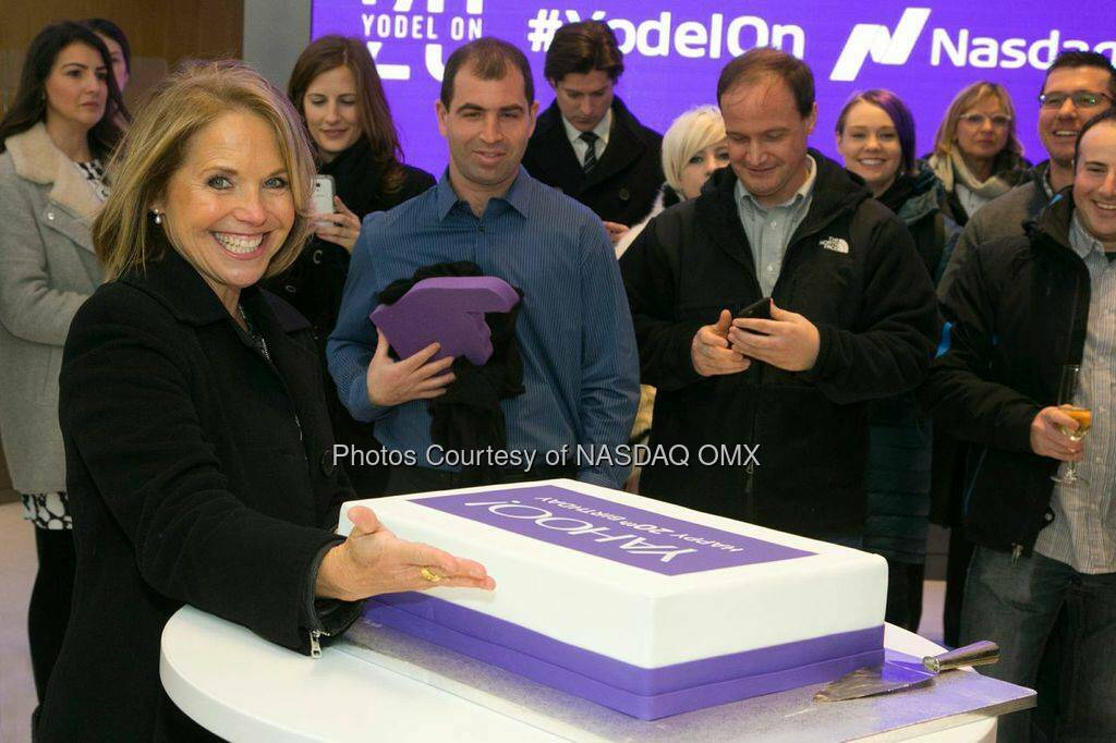 Huge thanks to Yahoo for coming to celebrate their 20th Anniversary with all of us here at Nasdaq. Happy birthday! Our CFO Kenneth Goldman opened the Nasdaq today with our fabulous editorial team and our friends Tumblr, BrightRoll and more! Source: http://facebook.com/NASDAQ (03.03.2015)