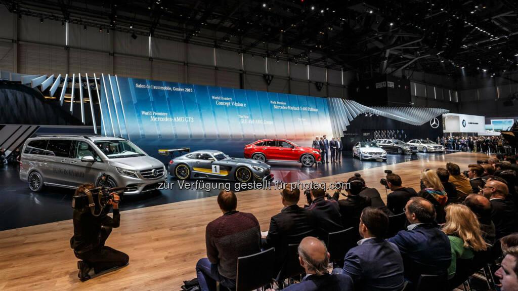 Mercedes-Benz präsentiert auf dem Genfer Automobilsalon 2015 eine Fülle an Modellneuheiten und Innovationen., © Aussendung (03.03.2015)