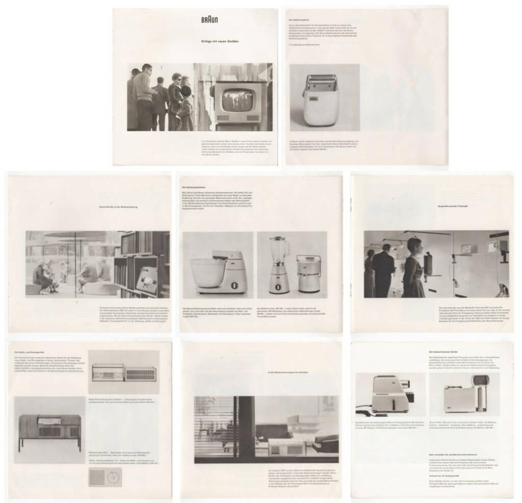 Braun - Erfolge mit neuen Geräten, Max Braun 1958, Beispielseiten, sample spreads - http://josefchladek.com/book/braun_-_erfolge_mit_neuen_geraten, © (c) josefchladek.com (04.03.2015)