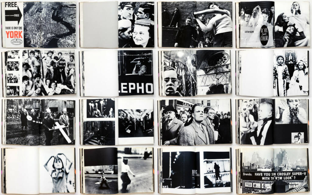 William Klein - Life Is Good and Good For You In New York: Trance Witness Revels, Giangiacomo Feltrinelli Editore 1956, Beispielseiten, sample spreads - http://josefchladek.com/book/william_klein_-_life_is_good_and_good_for_you_in_new_york_trance_witness_revels, © (c) josefchladek.com (04.03.2015)