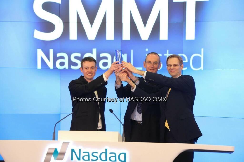 Summit Therapeutics PLC rang the Nasdaq Closing Bell $SMMT  Source: http://facebook.com/NASDAQ (06.03.2015)