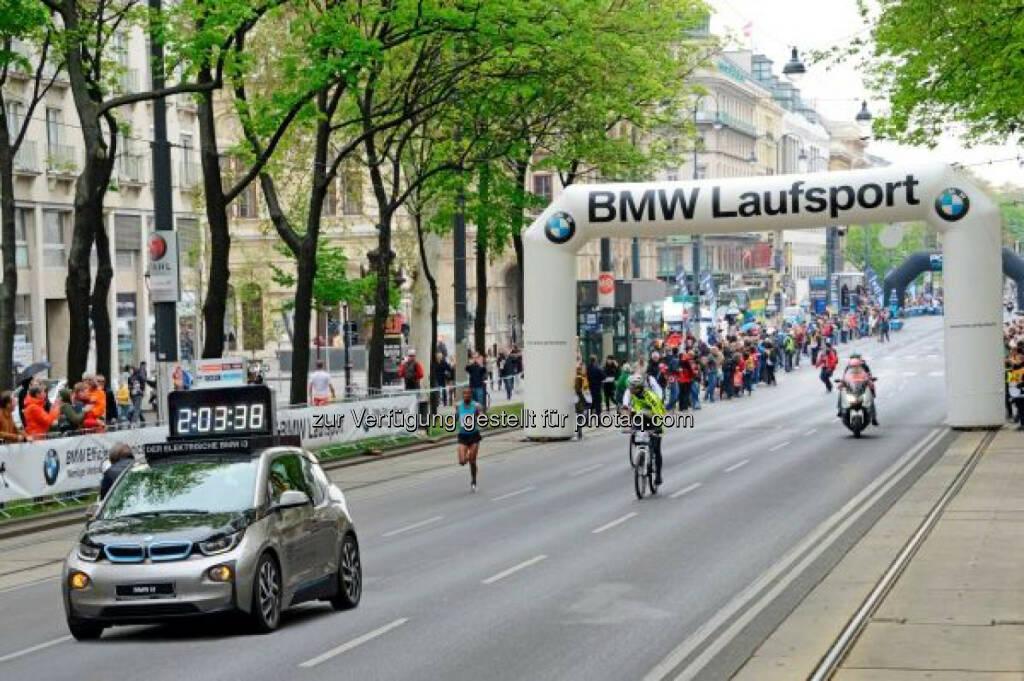 BMW 2015 bereits zum dritten Mal Partner des Vienna City Marathon., © Aussendung (10.03.2015)