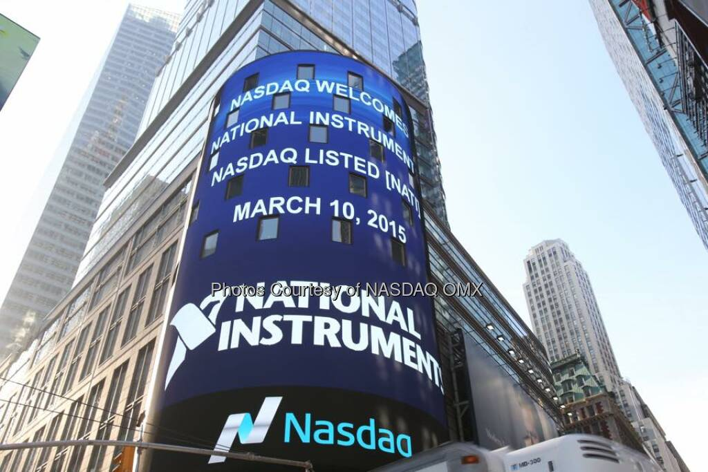 National Instruments rings the Nasdaq Opening Bell! $NATI  Source: http://facebook.com/NASDAQ (10.03.2015)