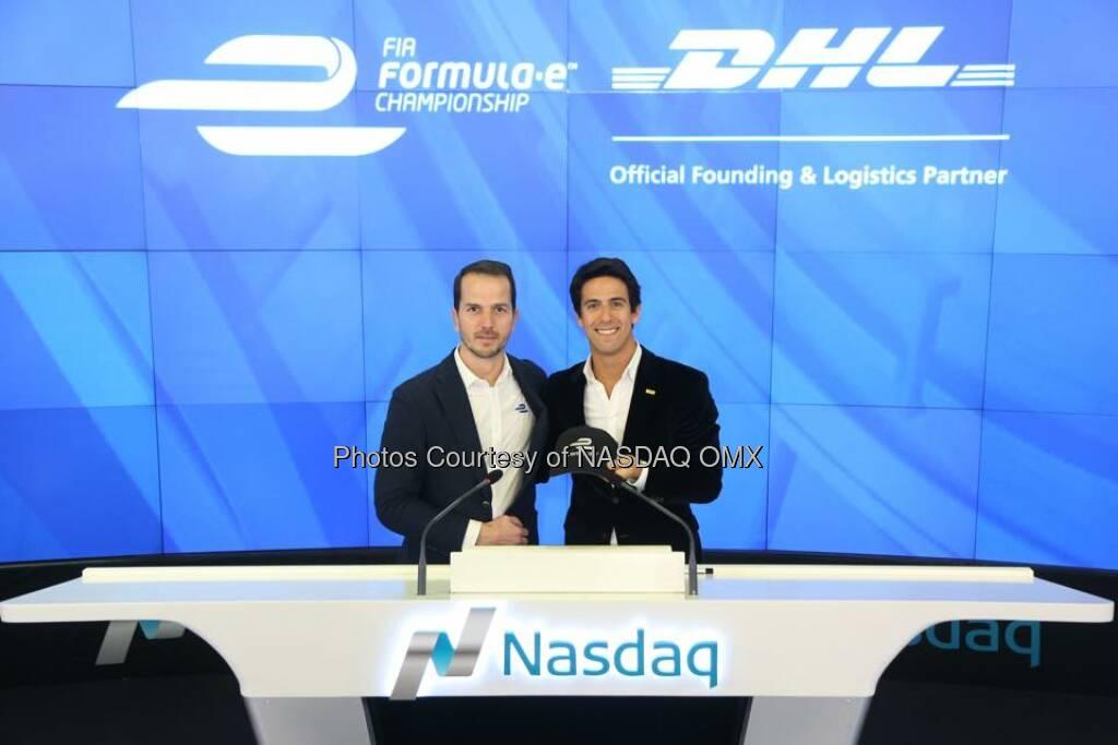 FIA Formula E rang the Nasdaq Closing Bell!  Source: http://facebook.com/NASDAQ (11.03.2015)