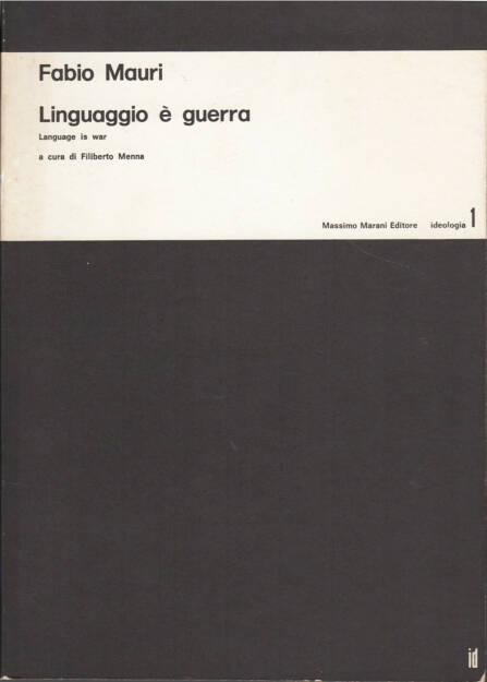 Fabio Mauri - Linguaggio è guerra / Language is war, Massimo Marani Editore 1975, Cover - http://josefchladek.com/book/fabio_mauri_-_linguaggio_e_guerra_language_is_war, © (c) josefchladek.com (11.03.2015)