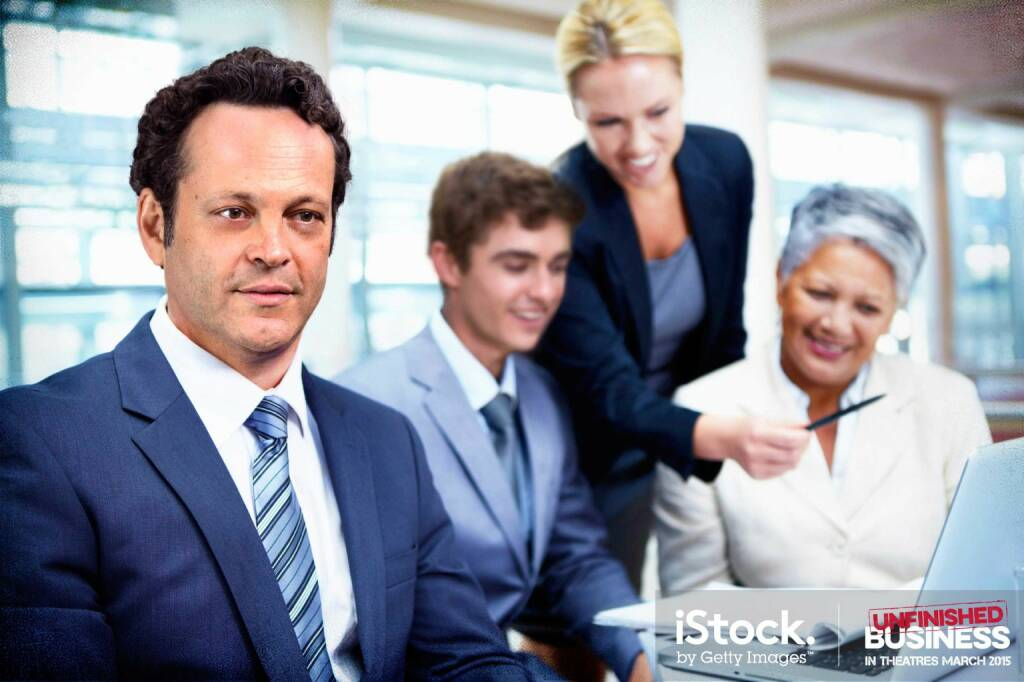 Dan Trunkman (Vince Vaughn) does a deep dive - Supported by a great team, iStock, Getty Images (16.03.2015)