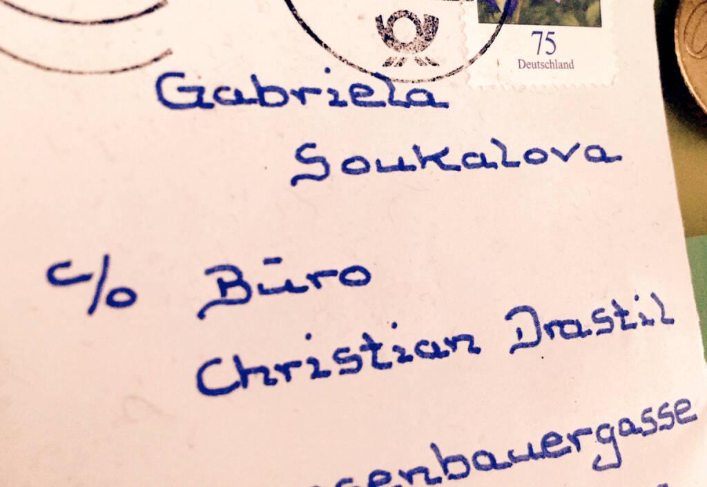 Gabriela Soukalova c / o Christian Drastil? Stimmt nicht ganz, aber witzige Post an einen Biathlonfan, © Aussendung (17.03.2015)