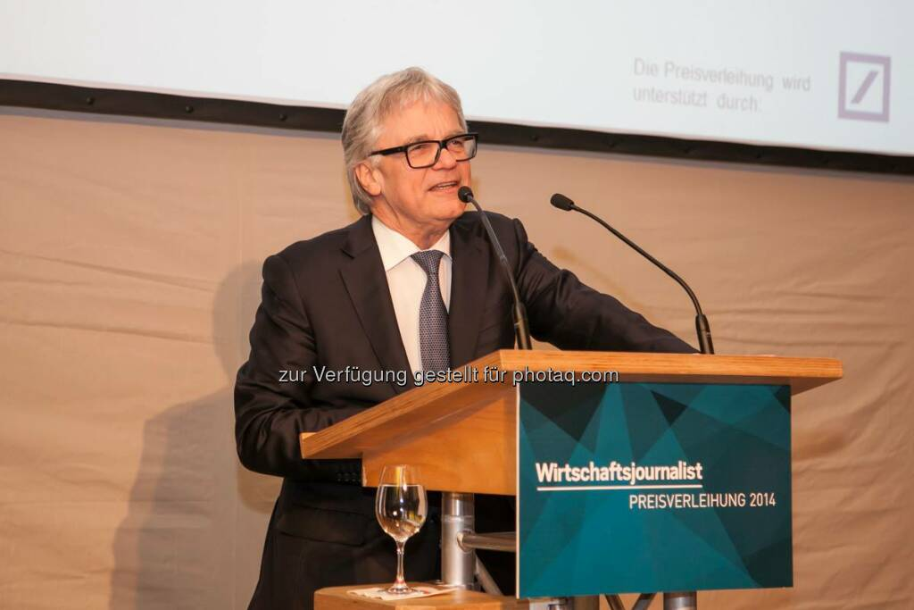 Im Rahmen der Preisverleihung des Wirtschaftsjournalisten des Jahres 2014 in Frankfurt hielt voestalpine-CEO und Weltstahlpräsident Wolfgang Eder die Keynote. http://bit.ly/1EvE5V1  Source: http://facebook.com/voestalpine (18.03.2015)