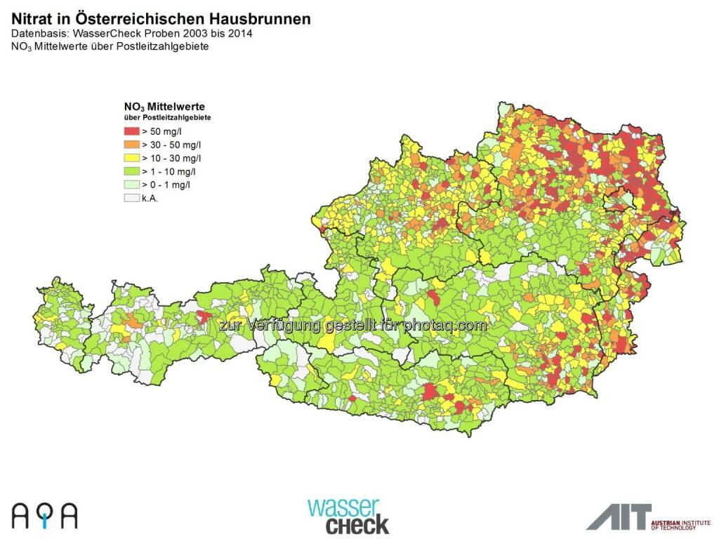 AQA GmbH: Zum Weltwassertag am 22.3.: Trinkwasser-Topqualität in Österreich ist nicht selbstverständlich: Nitrat im Trinkwasser, © Aussender (19.03.2015)