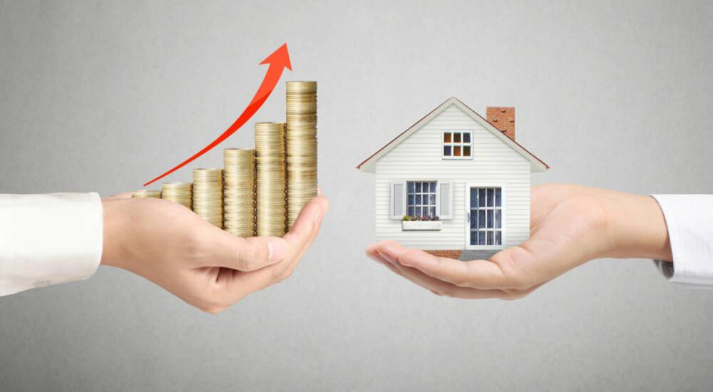 haus besitz wert wertsteigerung kredit zahlen darlehen steigerung hauskauf verkauf. Black Bedroom Furniture Sets. Home Design Ideas