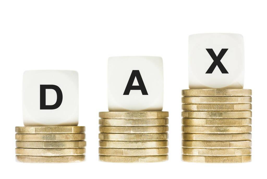 DAX, Deutsche Börse, Index http://www.shutterstock.com/pic-155921465/stock-photo-dax-frankfurt-stock-exchange-share-index-on-gold-coin-stacks-isolated-on-white.html, © www.shutterstock.com (24.03.2015)