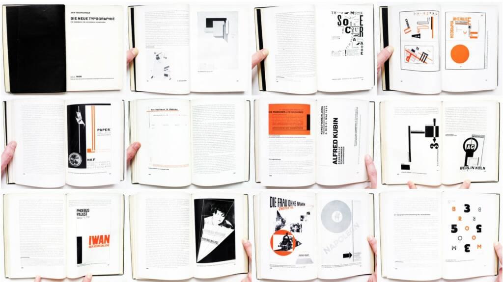 Jan Tschichold - Die neue Typographie, Verlag des Bildungsverbandes der deutschen Buchdrucker 1928, Beispielseiten, sample spreads - http://josefchladek.com/book/jan_tschichold_-_die_neue_typographie, © (c) josefchladek.com (27.03.2015)