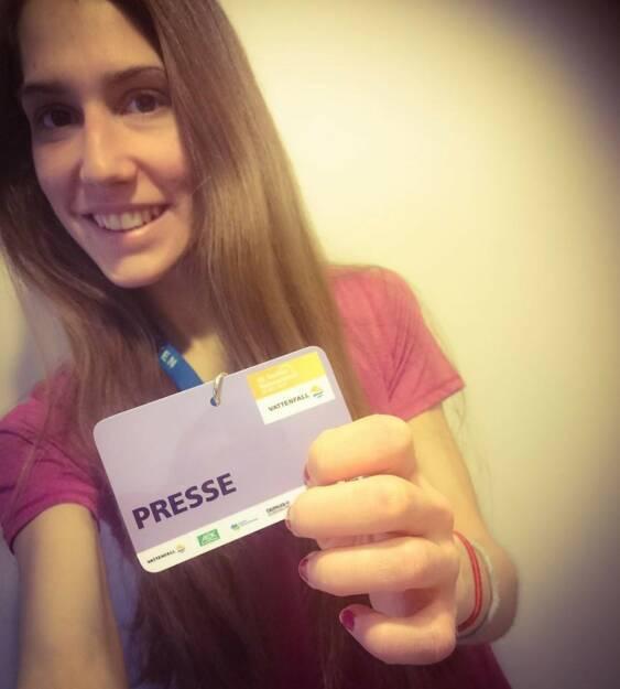 Melanie Raidl als Starterin und Presse beim Berlin Halbmarathon, © Melanie Raidl (28.03.2015)