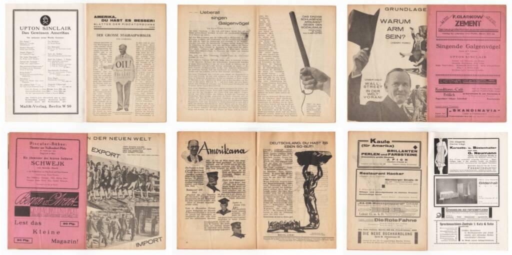 Blätter der Piscatorbühne - Amerika, Du hast es besser!, Bepa-Verlag 1928, Beispielseiten, sample spreads - http://josefchladek.com/book/blatter_der_piscatorbuhne_-_amerika_du_hast_es_besser, © (c) josefchladek.com (30.03.2015)