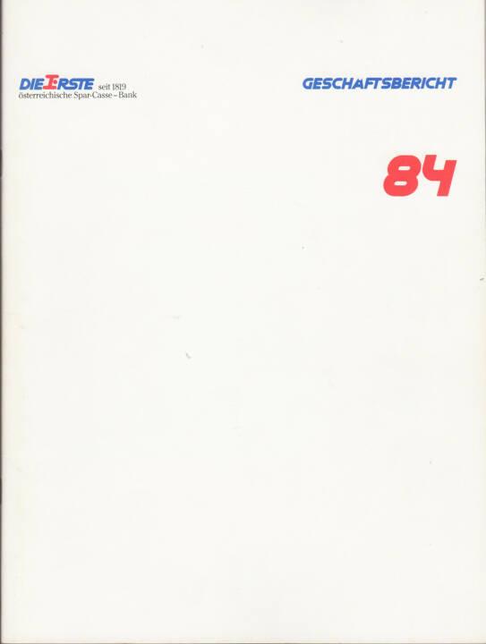 ERSTE österreichische Spar-Casse - Bank Geschäftsbericht 1984 - http://boerse-social.com/financebooks/show/erste_bank_geschaftsbericht_1984