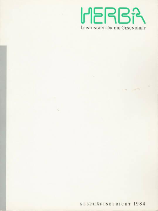 Herba Geschäftsbericht 1984 - http://boerse-social.com/financebooks/show/herba_geschaftsbericht_1984