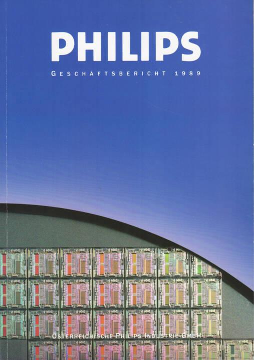 Österreichische Philips Industrie GmbH Geschäftsbericht 1989 - http://boerse-social.com/financebooks/show/osterreichische_philips_industrie_gmbh_geschaftsbericht_1989