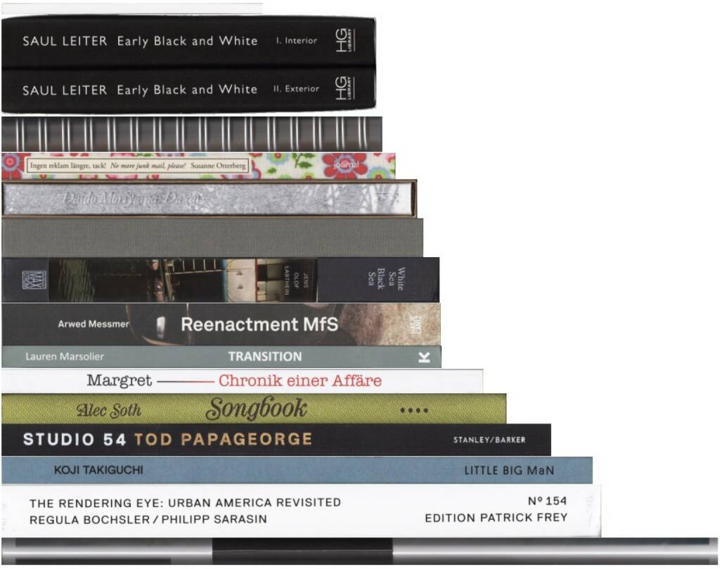 Best of March 2015 on josefchladek.com (server-stats - http://josefchladek.com/list/best_of_march_2015#books ): John Gossage - Nothing, Daisuke Yokota - Toransupearento, Ren Hang - 野生 ('Wild'), Arwed Messmer - Reenactment MfS, Daido Moriyama - Dazai, Saul Leiter - Early Black and White, Nicole Delmes & Susanne Zander (Eds.) - Margret: Chronik einer Affäre, Alec Soth - Songbook, Lauren Marsolier - Transition, Tod Papageorge - Studio 54, Fábio Miguel Roque - Hometown, Jens Olof Lasthein - White sea Black sea, Susanne Otterberg - No more junk mail, please!, Koji Takiguchi - Sou, Regula Bochsler & Philipp Sarasin - The Rendering Eye: Urban America Revisited, © (c) josefchladek.com (01.04.2015)
