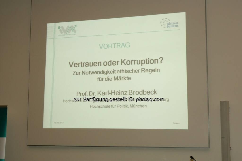 Vortrag Karl-Heinz Brodbeck, © IVA (20.02.2013)