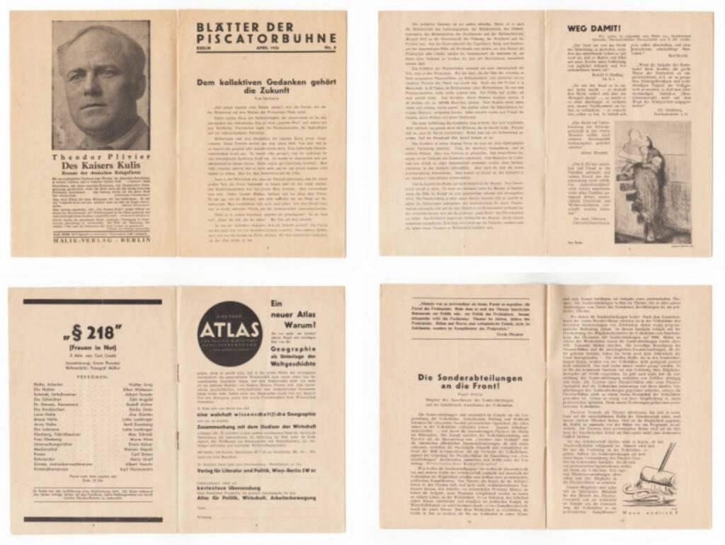 Blätter der Piscatorbühne - Frauen in Not §218, Bepa-Verlag 1930, Beispielseiten, sample spreads - http://josefchladek.com/book/blatter_der_piscatorbuhne_-_frauen_in_not_218, © (c) josefchladek.com (10.04.2015)