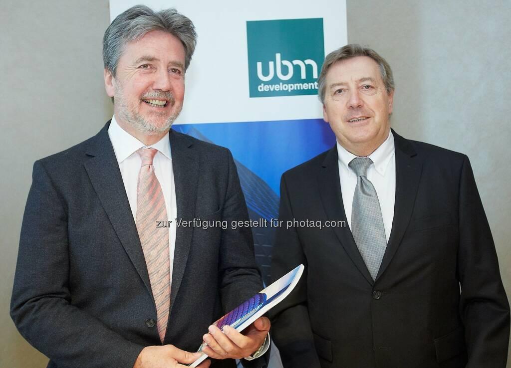 Karl Bier, CEO und Heribert Smolé, CFO UBM Development: UBM Realitätenentwicklung AG: UBM: Deutliche Steigerung von Gesamtleistung und Profitabilität, © Aussender (14.04.2015)