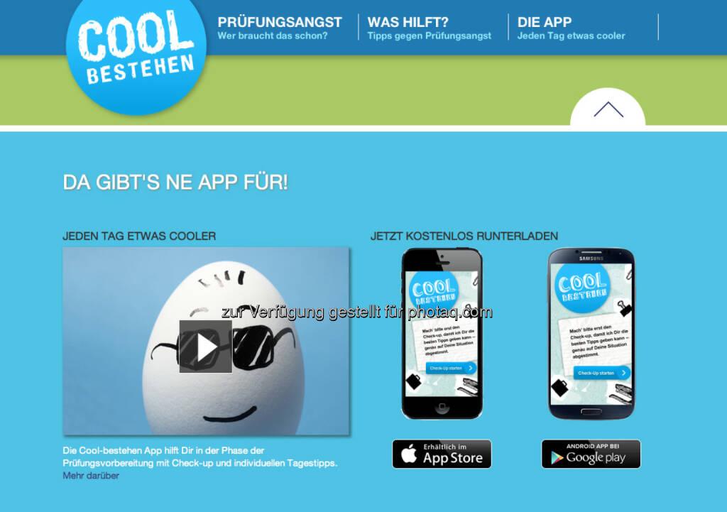 Pascoe Pharmazeutische Präparate: Ab sofort verfügbar: CoolBestehen - die erste App gegen Prüfungsangst (16.04.2015)