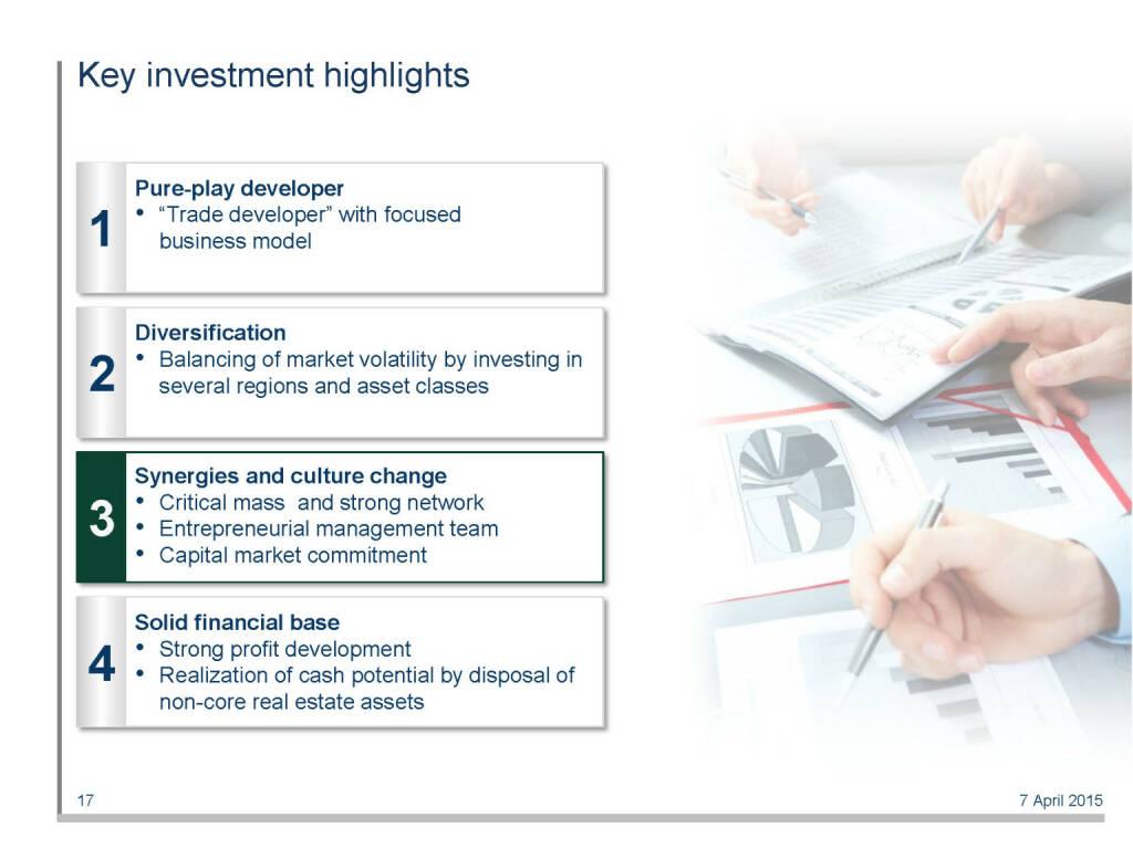 Key investment highlights (16.04.2015)