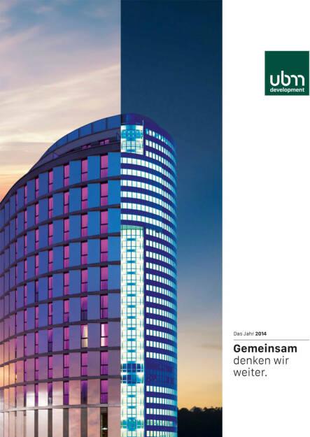UBM Jahresfinanzbericht/Geschäftsbericht 2014 - http://boerse-social.com/financebooks/show/ubm_jahresfinanzberichtgeschaftsbericht_2014 (16.04.2015)