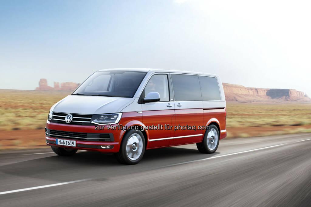 VW Volkswagen Nutzfahrzeuge AG: Generation SIX: Weltpremiere der neuen T-Baureihe, © Aussendung (16.04.2015)
