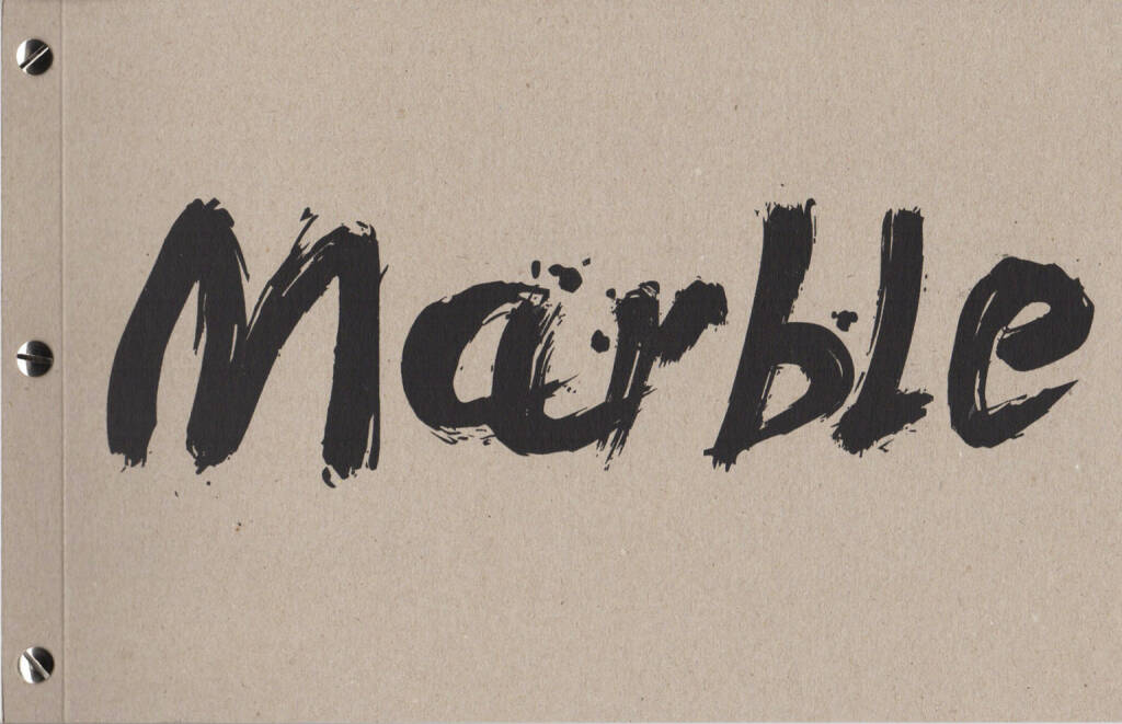 Calin Kruse - Marble, dienacht 2015, Cover - http://josefchladek.com/book/calin_kruse_-_marble, © (c) josefchladek.com (17.04.2015)