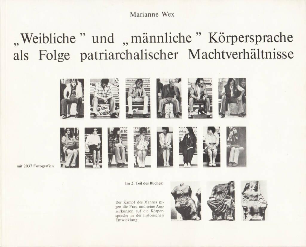"""Marianne Wex - """"Weibliche"""" und """"männliche"""" Körpersprache als Folge patriarchalischer Machtverhältnisse, Verlag Marianne Wex 1980, Cover - http://josefchladek.com/book/marianne_wex_-_weibliche_und_mannliche_korpersprache_als_folge_patriarchalischer_machtverhaltnisse, © (c) josefchladek.com (17.04.2015)"""