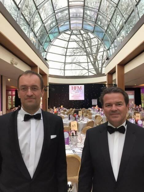 HFM Europe Performance Awards - SMN Diversified Futures Fund wurde 2. Mit Gernot Heitzinger, © Aussendung (17.04.2015)