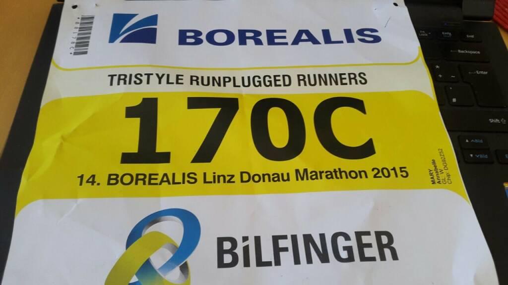 Bilfinger 170c: Tristyle Runplugged Runners mit Staffelrekord in Linz (19.04.2015)