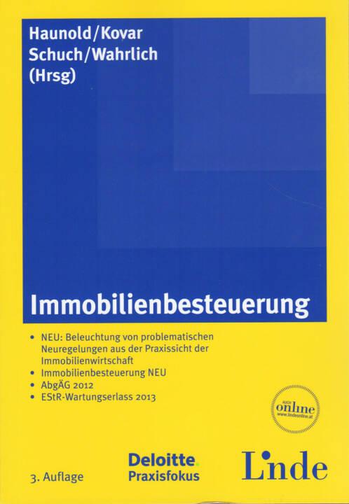 Peter Haunold / Herbert Kovar / Josef Schuch / Ronald Wahrlich - Immobilienbesteuerung - http://boerse-social.com/financebooks/show/peter_haunold_herbert_kovar_josef_schuch_ronald_wahrlich_-_immobilienbesteuerung